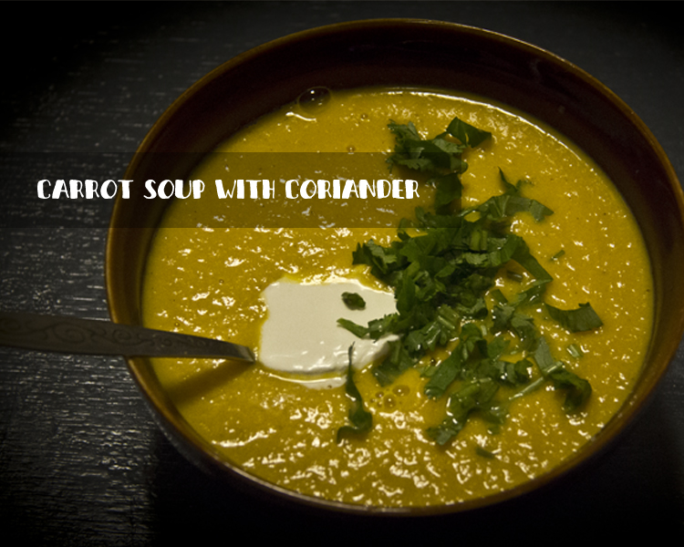 Carrot soup with coriander