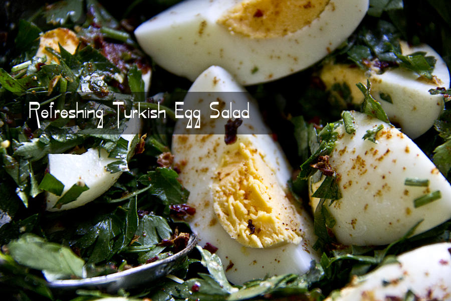 Refreshing Turkish egg salad
